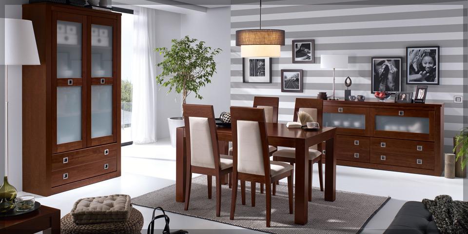 Comedores de madera modernos muebles dominguez for Catalogo de comedores de madera