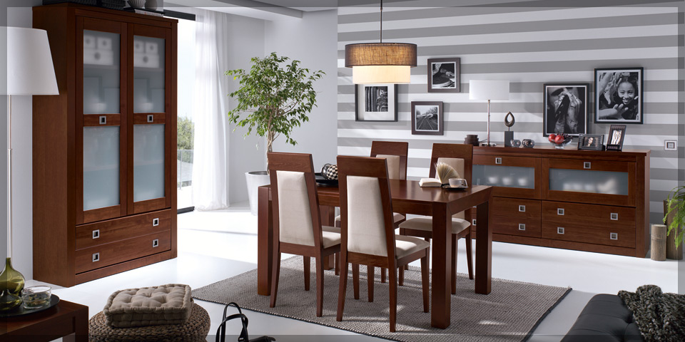 Comedores de madera modernos muebles dominguez for Comedores en madera