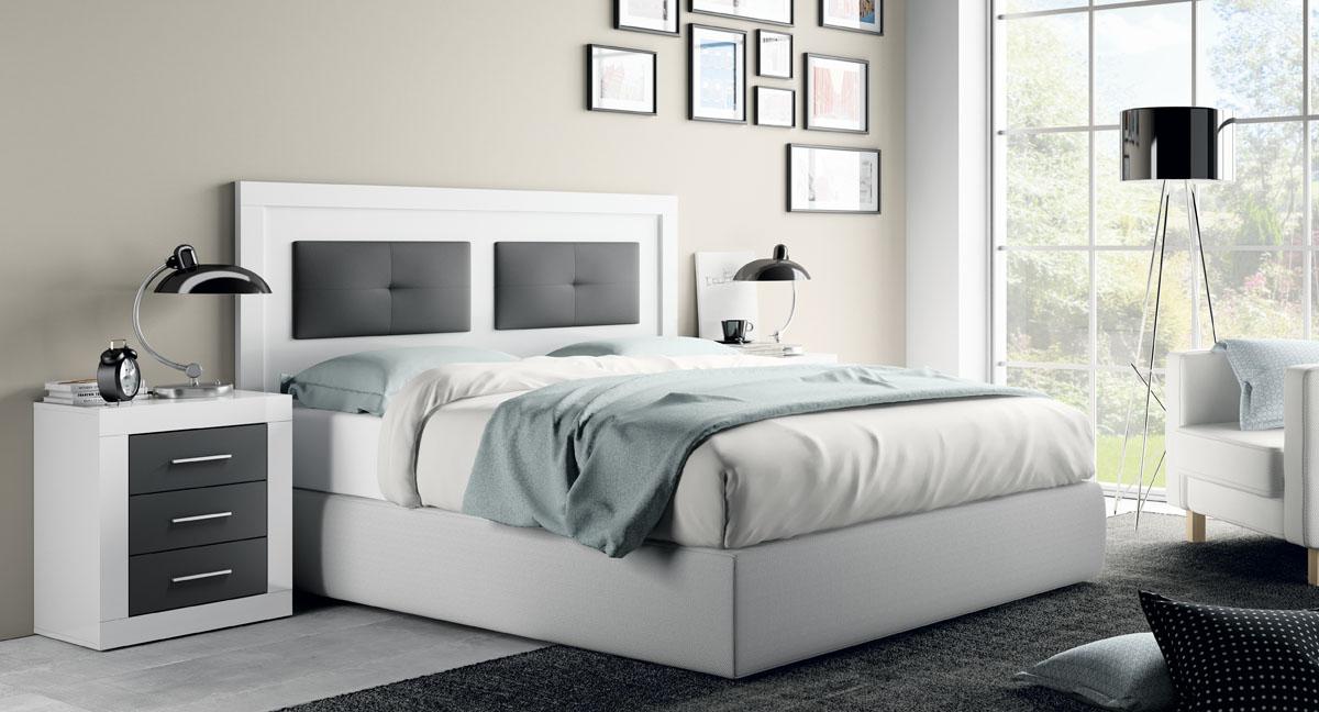 Habitacion matrimonio moderna dormitorio moderno blanco - Dormitorios baratos ikea ...