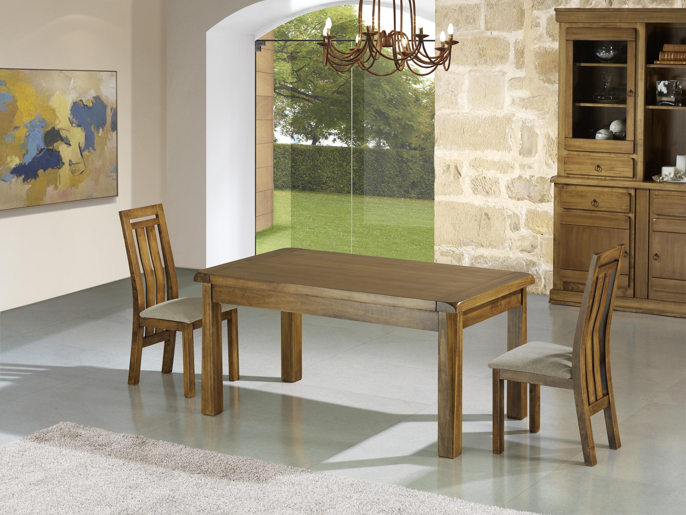 Mesas y sillas r sticas muebles dominguez for Sillones de cocina