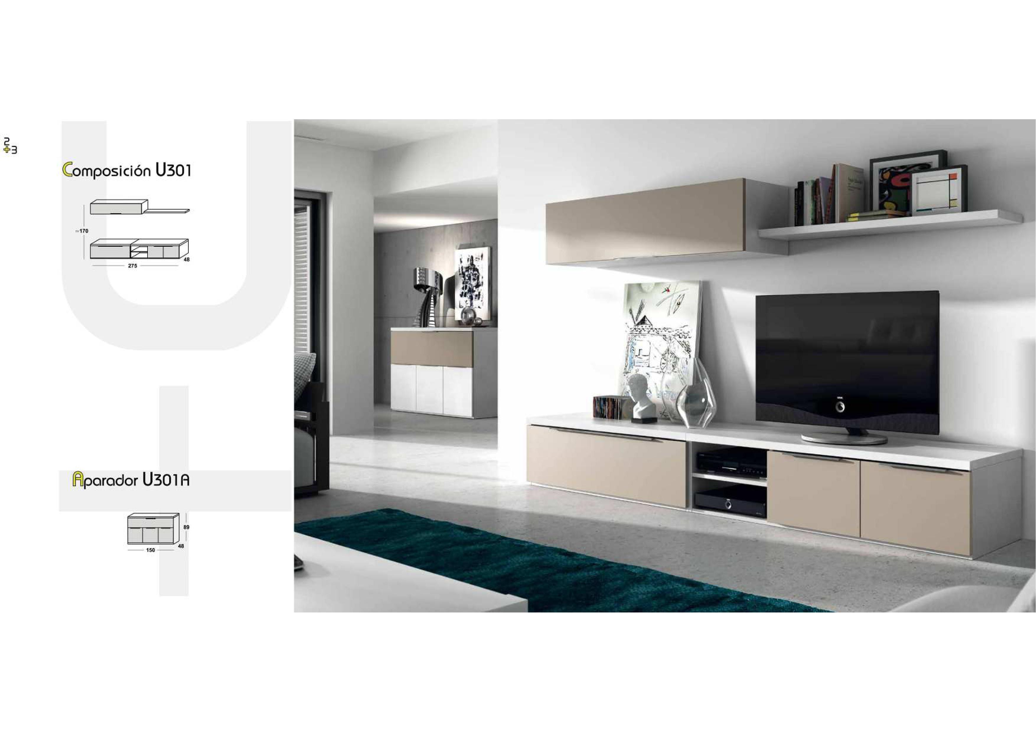 Salones y comedores modernos salcedo muebles for Salones completos modernos precios