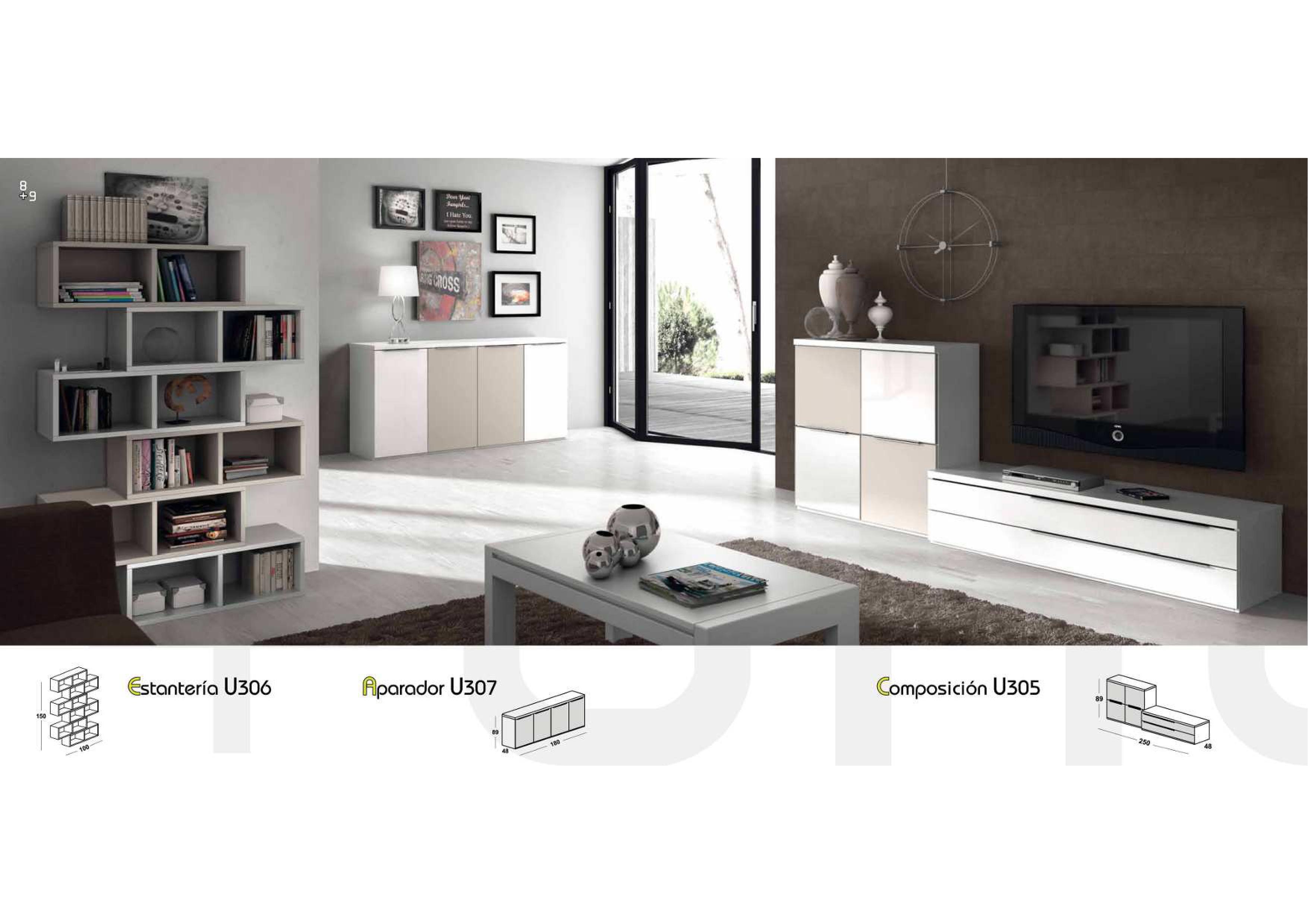 Salones y comedores modernos salcedo muebles for Salones modernos precios